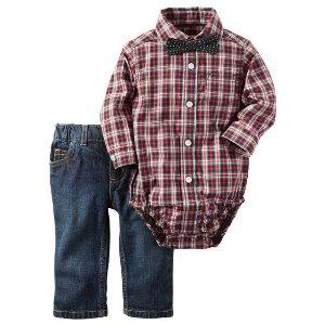 Baby Boy 2-Piece Button-Front Bodysuit & Denim Set | Carters.com