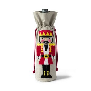 Holiday Nutcracker Wine Bag from Lands' End