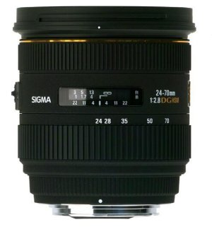 $599 SIGMA 24-70mm f/2.8 IF EX DG HSM Lens for Canon, Nikon or Sony