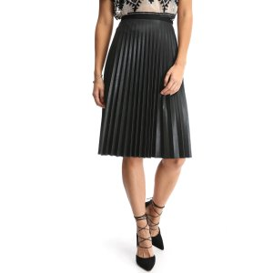 Willow & Clay Vegan Pleated Midi Skirt | South Moon Under
