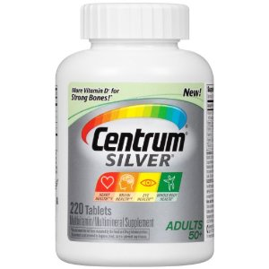 $9.23 + Free ShippingCentrum Silver Adult Multivitamin / Multimineral Supplement Tablet, Vitamin D3 (220 Count) (Package May Vary)