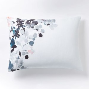 Belgian Flax Linen Watercolor Garden Shams | west elm