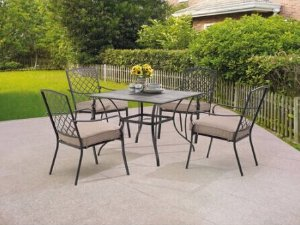 Mainstays Grayson Court 5-Piece Patio Set, Tan