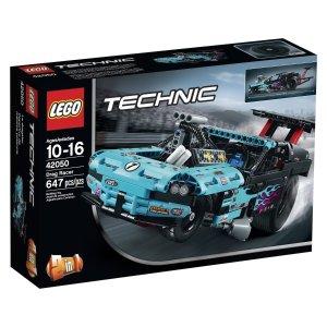 史低 $47.99包邮LEGO Technic 乐高机械组直线加速赛车647片