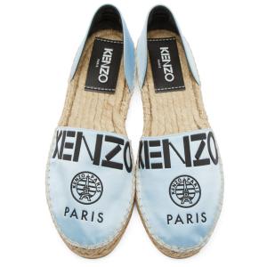 Kenzo: Blue Logo Cut-Out Espadrilles | SSENSE
