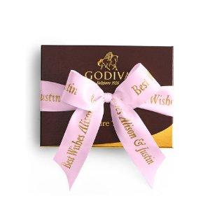 Chocolate Truffles Gift Box - Pink Ribbon - 12 pc.