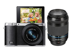$379.00 Samsung NX3000 Mirrorless Digital Camera with 20-50mm and 50-200mm 2-Lens Kit