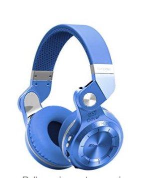 史低价!$19.99Bluedio T2 Plus 飓风系列蓝牙立体声蓝牙无线耳机,红蓝两色可选