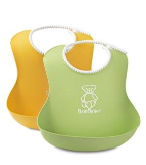 Babybjörn Soft Bib - Green/Yellow - 2pk