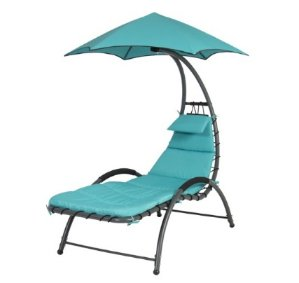 Arc Curved Hammock Dream Chaise Lounge Chair Outdoor Patio Pool Furniture Blue