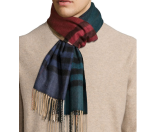 Burberry Men's Cashmere Twisted Giant Icon Scarf, Teal/Camel