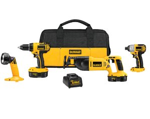 $179DEWALT 4-Tool 18-Volt Nickel Cadmium (Nicd) Brushed Motor Cordless Combo Kit with Soft Case