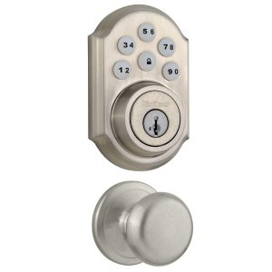 Kwikset SmartCode Electronic Deadbolt featuring Smart Key and Juno Hall/Closet Knob