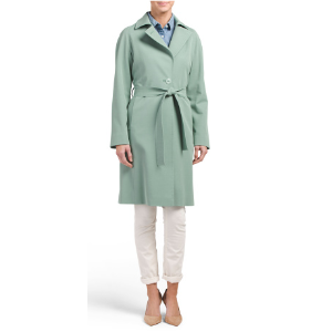 Made In Italy Tie Front Trench - Trenches & Anoraks - T.J.Maxx