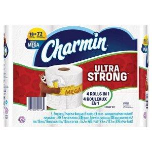 Charmin超强韧厕纸 18 Mega 卷
