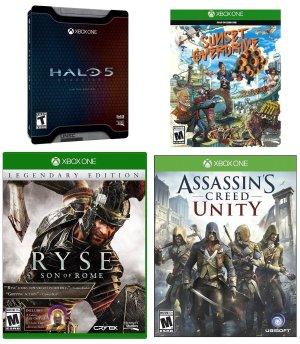 New Xbox One Game Bundle (Halo 5+Assassins Creed+Sunset Overdrive+Ryse)