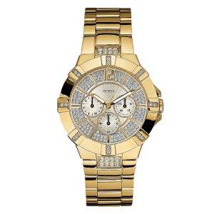 Dazzling Gold-Tone Sport Watch | GuessFactory.com