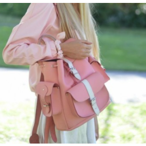Grafea Candy Crush Leather Rucksack -Pink & White | Unineed | Premium Beauty