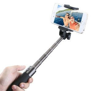 Mpow Extendable Bluetooth Aluminum Selfie Stick with Adjustable Phone Holder for iPhone 6, iPhone 6 Plus,iOS & Android Phones