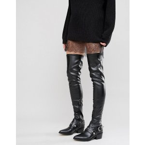 ASOS KARZA Western Over The Knee Boots