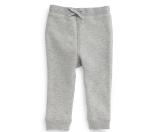 Burberry Barty Fleece-Lined Drawstring Sweatpants, Pale Gray Melange, Size 3M-3Y