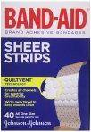 $1.70 Band-Aid Adhesive Bandages, Sheer, All One Size 40 sterile bandages