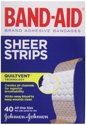 $1.70 Band-Aid Adhesive Bandages, Sheer, All One Size 40 sterile bandages
