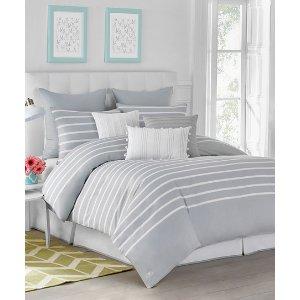 WestPoint Home Pearl Gray Jill Rosenwald Capri Stripe Comforter Set | zulily