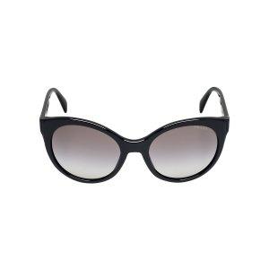 Prada PR 23OS 56 Grey & Black Sunglasses | Sunglass Hut USA