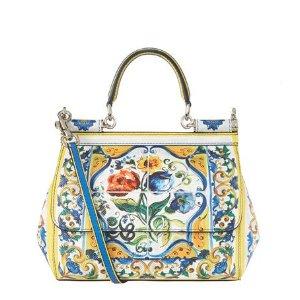Dolce & Gabbana Mini Sicily Majolica Print Top Handle Bag | Harrods