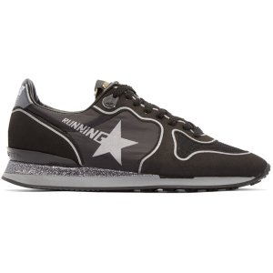 Golden Goose: Black Glitter Running Sneakers
