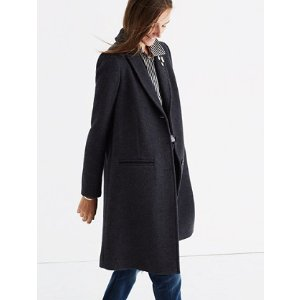 teatro swing coat in heather grey