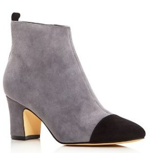 IVANKA TRUMP Lundy Cap Toe Mid Heel Booties
