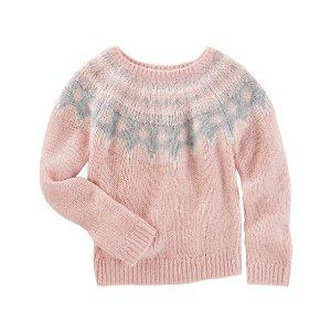 Sparkle Fair Isle Sweater | Carters.com