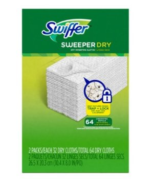 Swiffer Sweeper Dry Sweeping Pad Refills for Floor Mop, 64 Count
