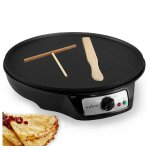 NutriChef Electric Crepe 12 inch Nonstick Maker Griddle