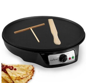 $29.99 NutriChef Electric Crepe 12 inch Nonstick Maker Griddle