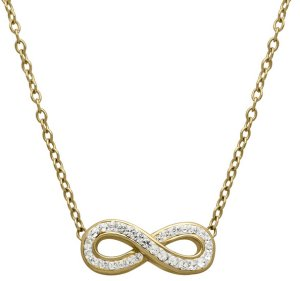Infinity Necklace with Swarovski Crystals