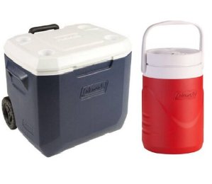 $25Coleman Xtreme 50-Quart Wheeled Cooler with 1 Gallon Jug Value Bundle