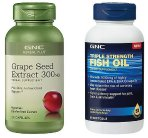 Lowest ever! $7.99 Each GNC Grape Seed 300 mg and Triple Strength Fish Oil  (Dealmoon exclusive)