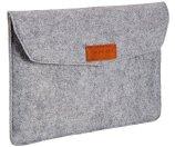 AmazonBasics 11-Inch Felt Laptop Sleeve - Light Grey