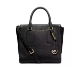MICHAEL Michael Kors Selby Medium Zip-Top Satchel Bag, Black
