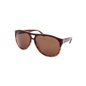 Salvatore Ferragamo SF634S-216-61 Sunglasses,Fashion Striped Brown Sunglasses, Sunglasses Salvatore Ferragamo Sunglasses Sunglasses