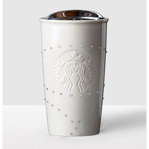 Double Wall Traveler adorned with Swarovski® crystals - White | Starbucks® Store