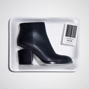 Extended 1 Day! $650+$100 Gift Card Alexander Wang Gabi Tilt-Heel Leather Boot @ Neiman Marcus