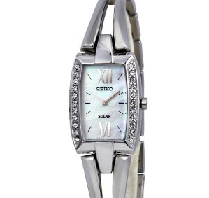 Lowest price! $84.99 Seiko Women's Tressia 22 Crystal White Watch