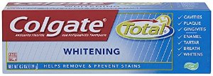 $6.81 Colgate Total Whitening Gel Toothpaste, 4.2 Ounce (Pack of 6)