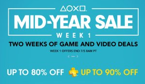 Up to 80% OffPlayStation Store Mid-Year Sale Week 1