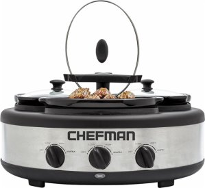 Chefman - 4.5-Quart Slow Cooker - Stainless