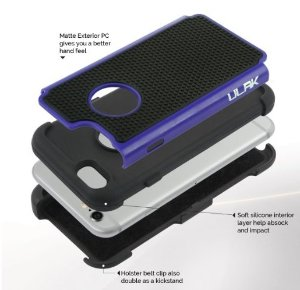 $1.99 iPhone 6S Case, ULAK iPhone 6 / 6S (4.7 INCH) Case Shock Absorbing Hybrid Rugged Slim Cover Shell